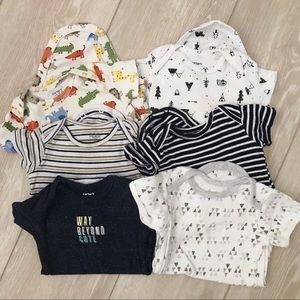 6 pack of onesies set - size 6m